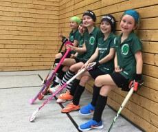 Mannschaftsfoto Mädchen D Hockey Turnier Jena 2017