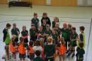 Die D-Mädchen vor ihrem Finale gegen die Mädchen des ASC München
