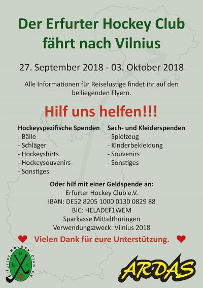 Plakat Spende Vilnius