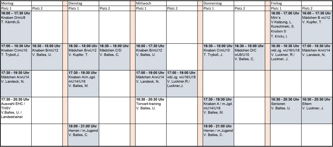Trainingsplan Feldsaison 2021